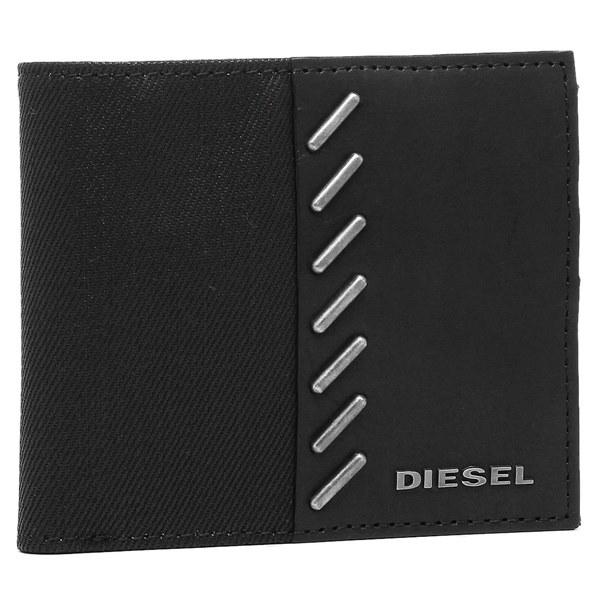 DIESEL 財布 ディーゼル X04350 PR559 T8013 メンズ 二つ折り財布 ブラック