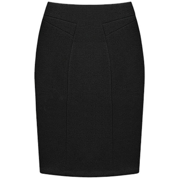 女性のストレッチハイウエストボディコンパッケージヒップオフィス下のひざ鉛筆スカート