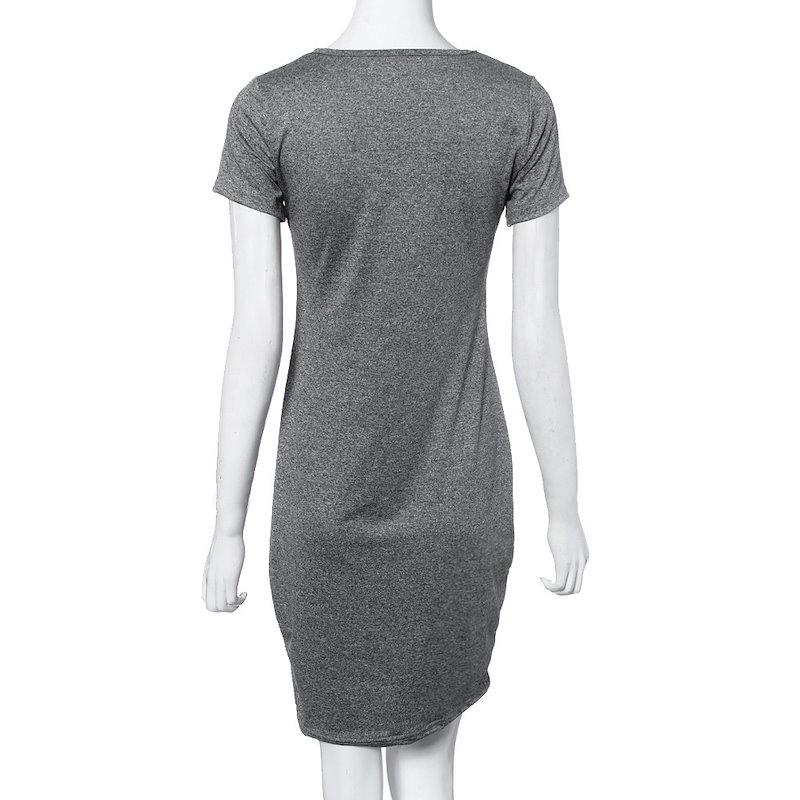 ワンピース ドレス女性カジュアル手紙プリント スポーツ tシャツ ドレス ショート スリーブ パーティー ドレス