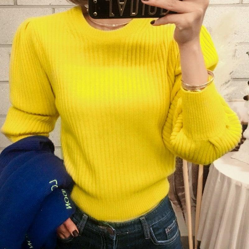 ♥大ヒット商品超特価♥韓国ファッション女性服1位『VIVARUBY』♥ゴルジパフニット♥最高級品質! 送料無料