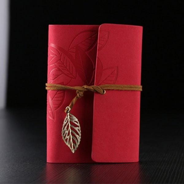紙ビンテージリーフファッションスモールノートブックバウンドジャーナル日記プランノートメモ帳