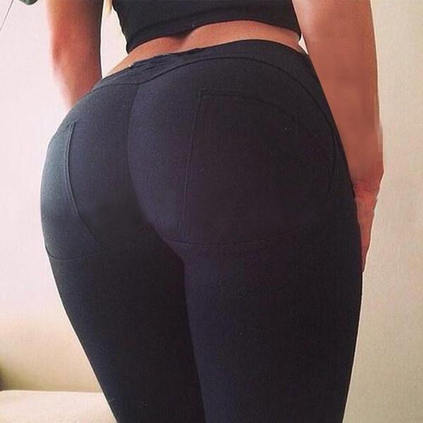 セクシーな女性の女の子ハイウエストスリムスキニーレギンスストレッチパンツJeggings Pencil Pants
