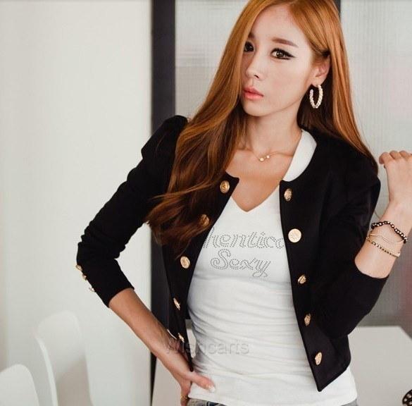 新しいファッションレディースボタンスリムカジュアルビジネスブレザースーツジャケットコートアウターW3 W_C