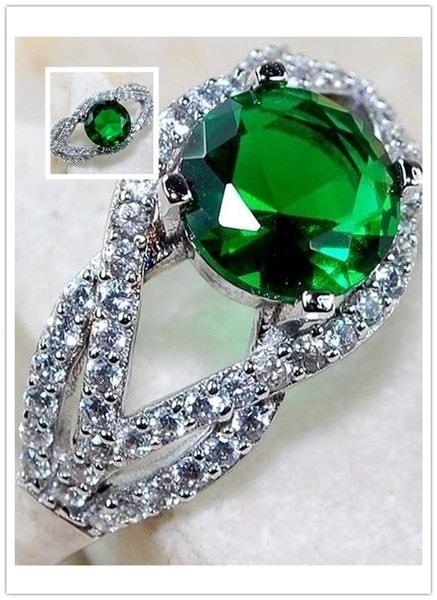 ファッションジュエリー925純銀製トパーズ結婚指輪サイズ6-10