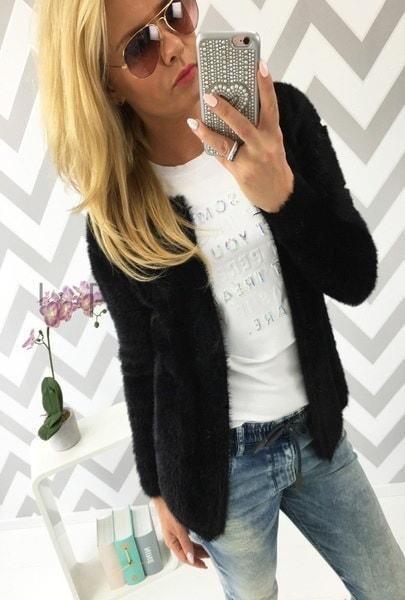 新しい秋と冬のファッション女性のカーディガンふわふわのセータージャケットtricolor