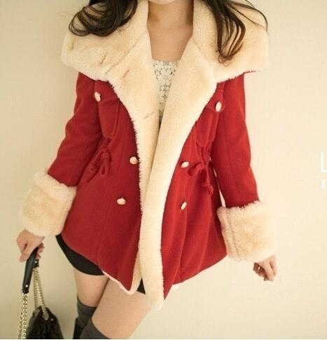 3色のホット販売スリムダブルブレストの女性のジャケットコート厚さプラスサイズ