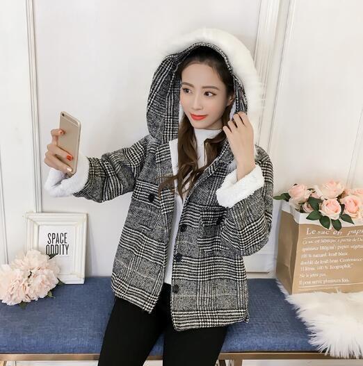 [55555SHOP]トレンチコート レディース 通勤オフィス ロングトレンチ 千鳥チェック カジュアル韓国ファッション パーカー