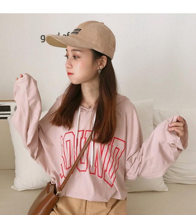 レディス服 女性 ファッション 韓国風 トップス プルオーバー パーカー フルカラー カジュアル ゆらっと 長袖 薄手 パフ袖 フーディー スポーティー シンプル 大きいサイズ ガーリー 体型カバー