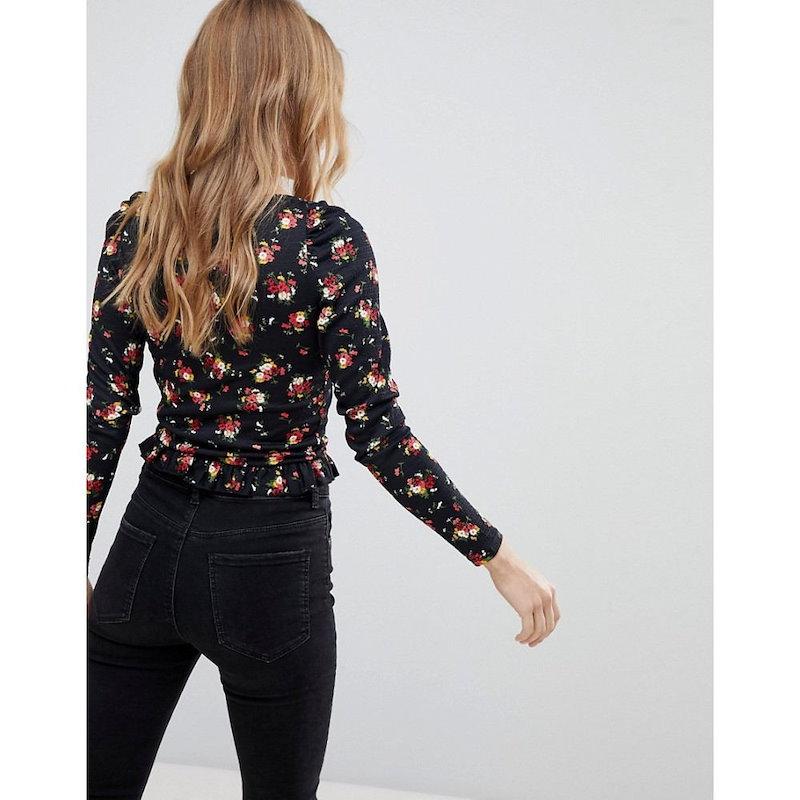 ミス セルフリッジ レディース トップス ブラウス・シャツ【Miss Selfridge Floral Printed Button Up Crop Blouse】Multi