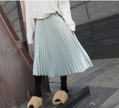 【送料無料】レディース ボトムス スカート プリーツスカート ウエストゴム ミモレ丈 フェミニン 大人 可愛い カジュアル 大きいサイズ ドレス 結婚式 お呼ばれ 5l BTBA1409