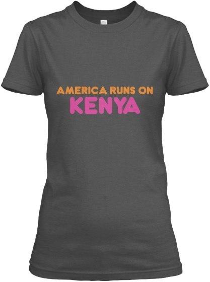 Kenya   America Runs On Gildan Women s Relaxed Tee
