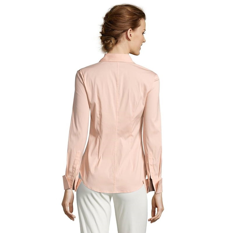 M.ボッティグリエリ レディース トップス ブラウス【Classic Cotton Poplin Button Down  Hudson  Shirt】Rose