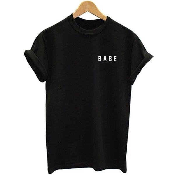 女性の面白いOネックTシャツ_HWF