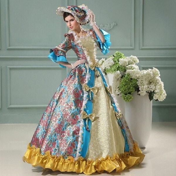 ハロウィンコスチューム女王コスプレヨーロッパ英国裁判所ヴィンテージ女性ドレスジュリエットプリンセスステージPerfo