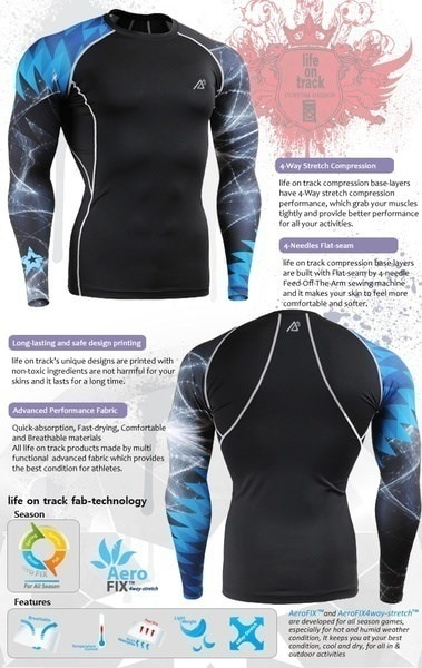 New Men s Long Sleeve Compression Skin T Shirts Training Running Quick Dry Tops Fitness Tights Sport