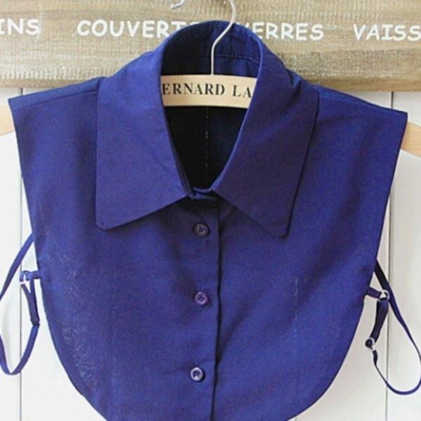 女性取り外し可能なラペルシャツの首輪ピーターパン取り外し可能な偽のネックレス
