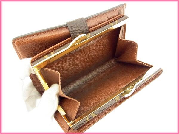ルイヴィトン Louis Vuitton がま口財布 二つ折り メンズ可 /ポルトモネ ビエヴィエノワ モノグラム M61663 ブラウン PVC×レザー (あす楽対応)(激安・即納)【中古】 Y28