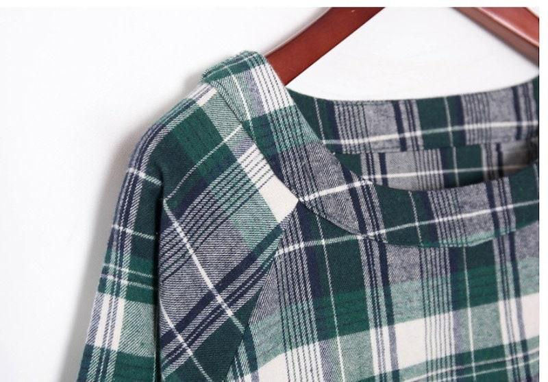 『香港製』SELLISHOP  Check フリル ワンピース「大きいサイズ 大人 韓国 ファッション・結婚式・フォマール 黒 フレア 30代 40代 50代 スレンダー・Aライン,シャツ・上品・ロン