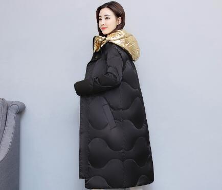 [55555SHOP]【秋冬新作】ダウンコート コート アウター ダウンコート 防寒 流行のデザインに仕立てた ダウンジャケット長め しっかり 軽量 アウター ロング シンプル