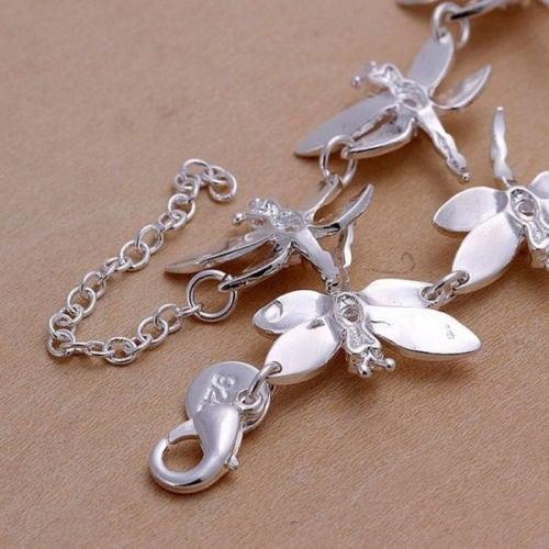 925の純銀製のファッショントンボブレスレットクラシックな性格の8トンボブレスレット