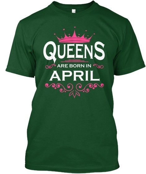 Queens are born in april Hanes Tagless Tee