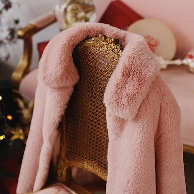 【お取り寄せ商品】【】ファーコート ショート丈 ふわふわ もこもこ あったか 防寒 キレイめコーデ 秋 冬