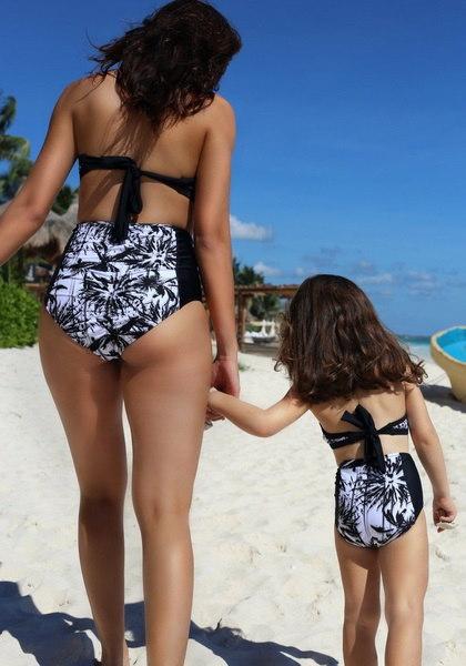 2つの部分母と子供セクシーな女性の水着セット水着Monokiniビキニ