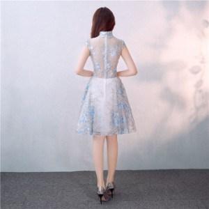 ブライズメイドドレス パーテ ィードレス ショート丈ワンピ プリンセス 結婚式 二次会ドレス Aライン フォーマル 発表会ミニドレス 刺繍半袖ドレス お呼ばれ ワンピース ワンピドレス