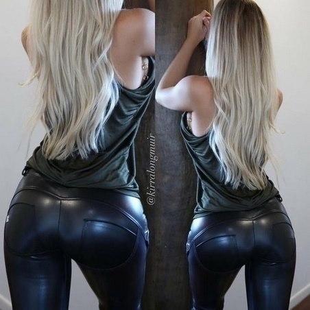 女性のセクシーなフェイクレザーパンツファッションハイウエストスキニーペンシルパンツスポーツヨガフィットネスボトムパンツ