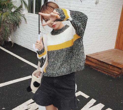 2017秋 新しいデザイン/レディース/ カジュアル 長袖 ニット セーター 全2色