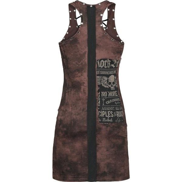 女性のファッションゴシックスカルプリントの包帯セクシーなタンクトップミニワンピースプラスサイズS  -  5XL WZD2957