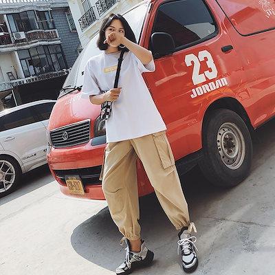 裾ひも カジュアル カーゴパンツ パンツ レディースボトムス 20代 30代 40代 韓国 ファッション おしゃれ 上品 通勤 通学 シンプル 着回し抜群 アクティブ