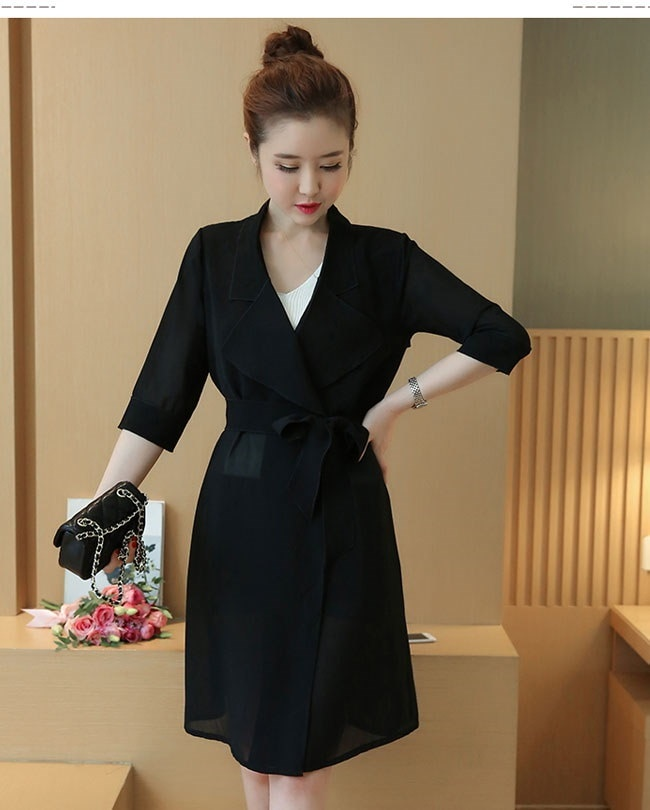 アウター コート トレンチコート レディース 女性 羽織 ロングコート 薄手 UV対策 紫外線防止 抜け感 手軽 ベルト 通勤 カジュアル