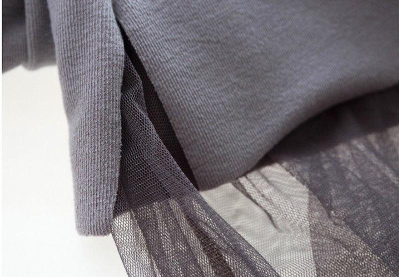 『韓国製』SELLISHOP  Mesh フリル ワンピース「大きいサイズ 大人 韓国 ファッション・結婚式・フォマール 黒 フレア 30代 40代 50代 スレンダー・Aライン,シャツ・上品・ロング
