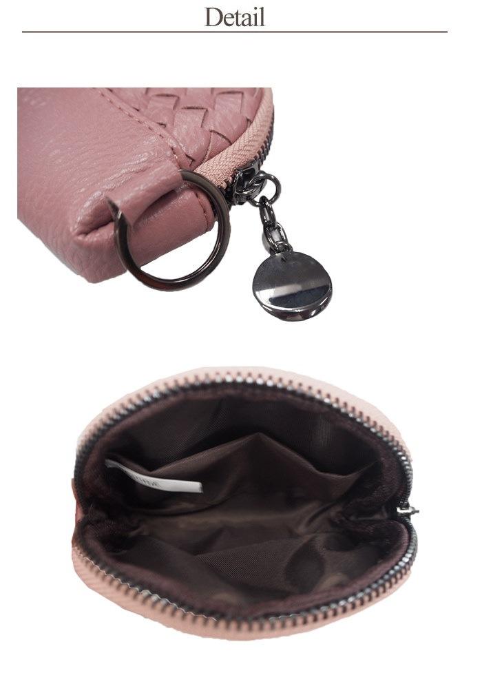 送料無料 編み込みメッシュコインケース 財布 ケース ゴールド ブラック ピンク イエロー アイボリー
