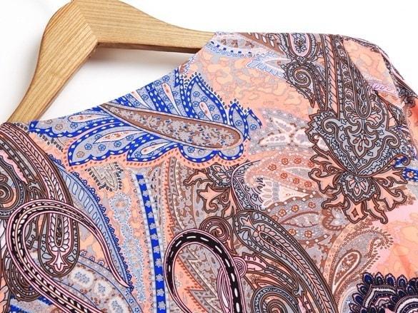 - トレンディーファインジョーレトロエスニックフラワープリント刺繍ジャケット薄いパットコートトップ