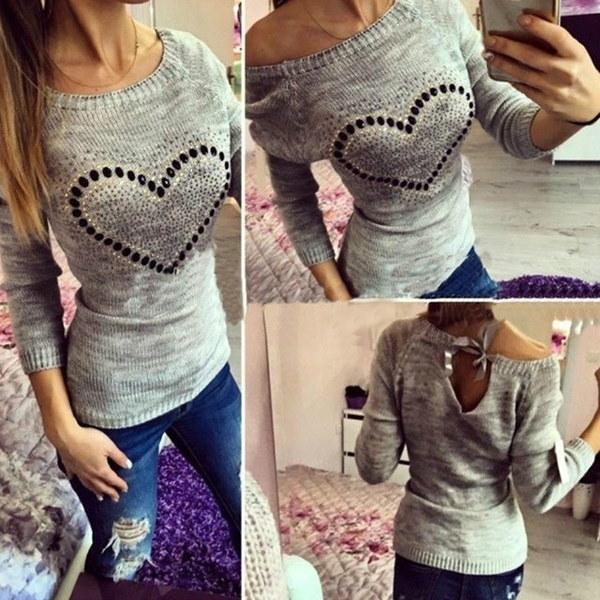 S  -  XXLロングスリーブセーターは、アメリカの女性のファッションルーズシャツ6色シンプルなデザインのフードラー