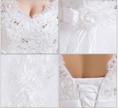 バックレス ウェディングドレス ノースリーブ 花飾り 花嫁 礼服 水晶 スイート 上品 XCXJ19