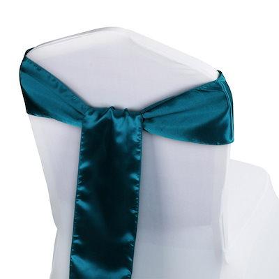 100枚サテンの椅子サッシの弓の結び目ギャルーン6 x 108蝶のクラフトの椅子カバー宴会ウェディングパーティー宴会ホテルのホームインテリア用品