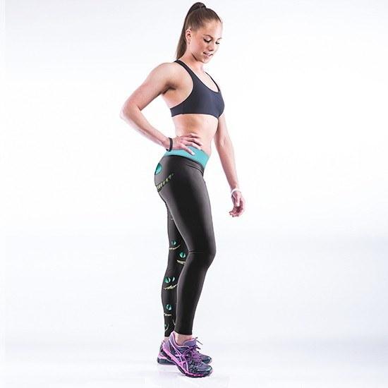 女性ファッション好きなチェシャー猫のレギンス高弾性ヨガフィットネスレギンス換気ガールズSk