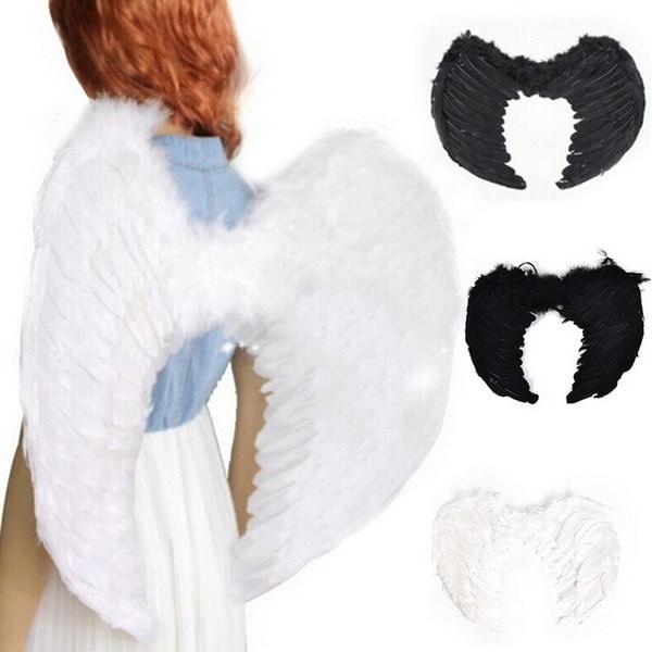 エンジェルフェアリーウイングブラックホワイトレッドヘニングナイトフェザーズ衣装ファンシードレスコスチュームクリスマスハロウィーン