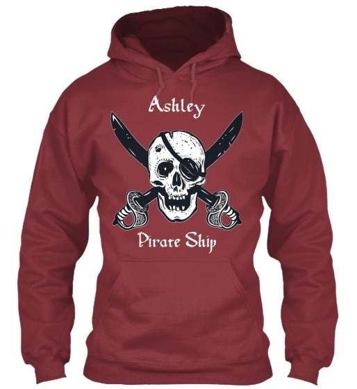 Ashleys Pirate Ship Gildanパーカースウェットシャツ