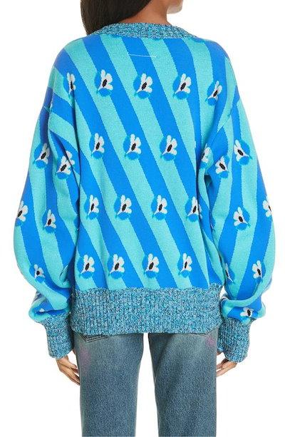 マルタンマルジェラ レディース ニット・セーター アウター MM6 Maison Margiela Floral & Stripe Jacquard Sweater