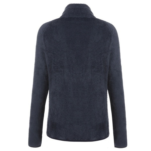 Women s Turtleneck Long Sleeve Full Zip Solid Casual Fleece Jacket
