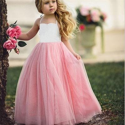 Girls Princess Net Yarn Dress  Kids Little Girls  Party Wedding Bridesmaid Tutu Dress Children Photo