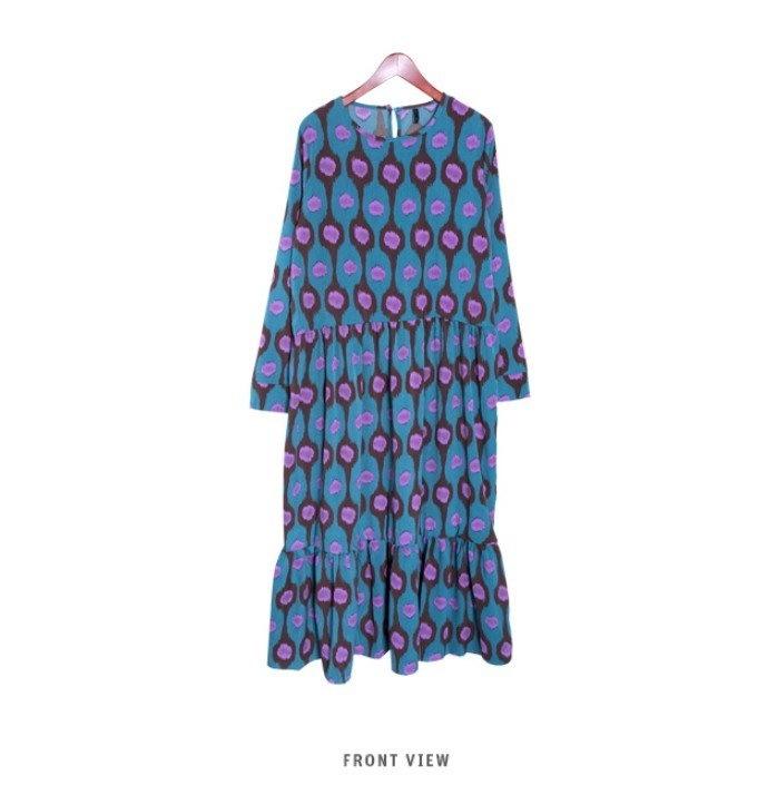 『香港製』SELLISHOP  Cellin long ワンピース「大きいサイズ 大人 韓国 ファッション・結婚式・フォマール 黒 フレア 30代 40代 50代 スレンダー・Aライン,シャツ・上品・
