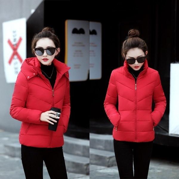 偽の毛皮の襟パーカーダウンコットンジャケット2017冬のジャケット女性の厚いスノーモービルコートレディース服
