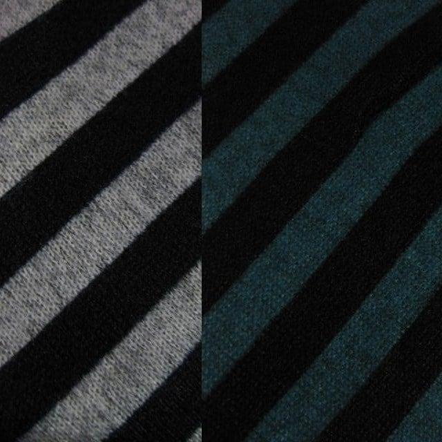 秋冬素材♪バイアスボーダー&ドルマンのお洒落な長袖チュニック 3色 M