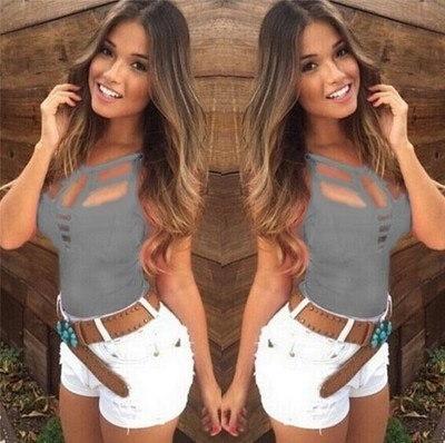 セクシーな女性の夏のベストトップノースリーブブラウスカジュアルタンクトップTシャツより良い