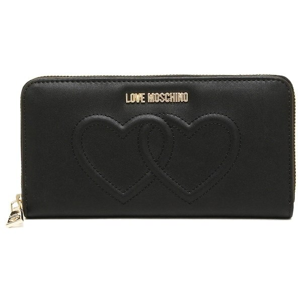 LOVE MOSCHINO 財布 ラブモスキーノ JC5541PP03KL0 000 EMBOSSED HEART 長財布 BLACK